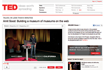 Amit Sood: Building a Museum of Museums on the Web.
