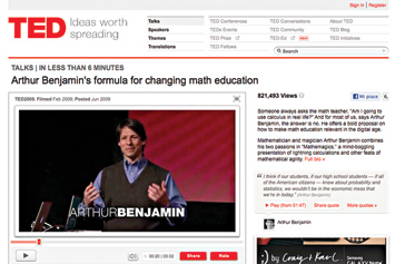 Arthur Benjamin's formula for changing math education.