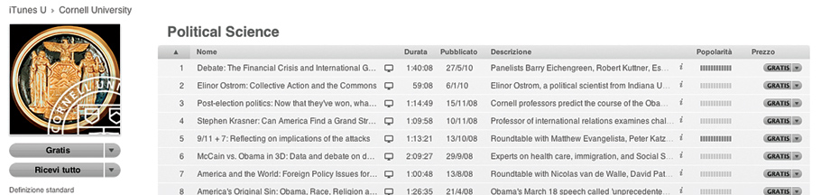 Political Science su iTunes U
