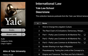 Il corso di International Law su iTunes U