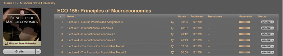 Principles of Macroeconomics su iTunes U
