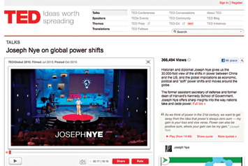 Joseph Nye on global power shifts.
