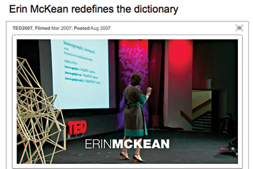 Erin McKean redefines the dictionary.