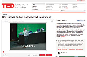 Ray Kurzweil on how technology will transform us.