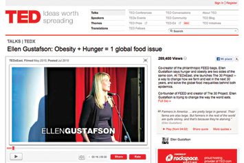 Ellen Gustafson: Obesity + Hunger = 1 global food issue.