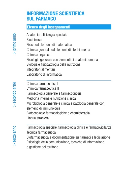 Informazione Scientifica sul Farmaco