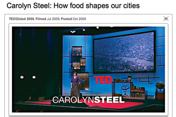 Carolyn Steel: How food shapes our cities.