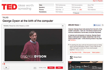 George Dyson at the birth of the computer.