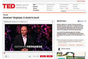 Abraham Verghese: A doctor's touch.