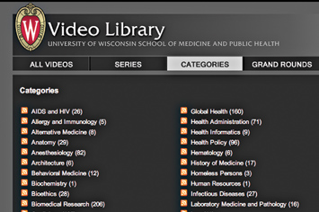 Video Library - Wisconsin School of Medicine and Public Health.
