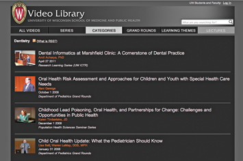 Video Library di Dentistry - Wisconsin School of Medicine and Public Health.