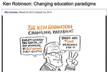 Ken Robinson: Changing education paradigms.