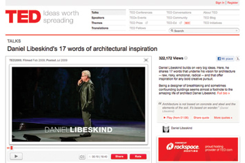 Daniel Libeskind's 17 words of architectural inspiration.
