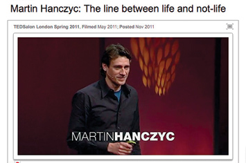 Martin Hanczyc: The line between life and not-life.