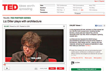Liz Diller plays with architecture.